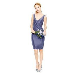 J crew Sara silk purple bridesmaid dress